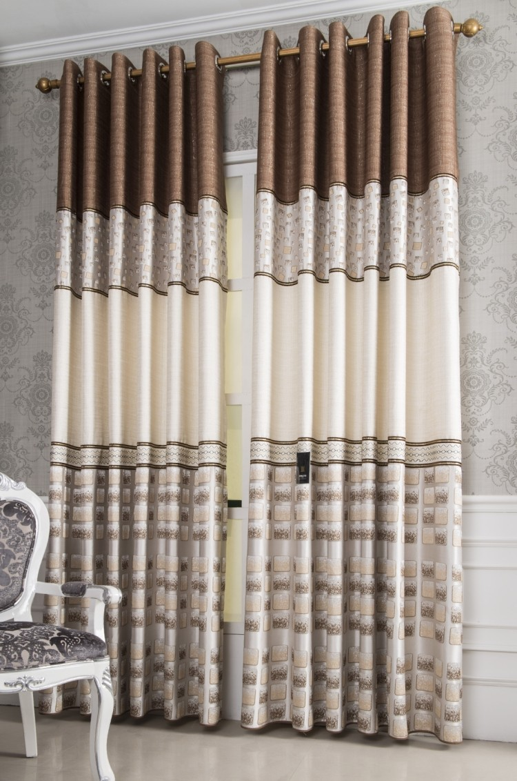 Attractive Home Design The Finished Curtain Quality Patchwork Curtain Cloth