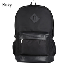 2016 HOT New Arrival Laptop Men Backpack College Student School Bag Large Capacity Nylon Men's Casual Rucksack Travel Daypack