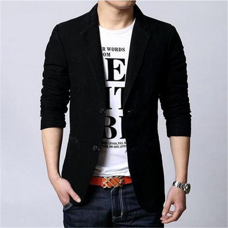 Costume Blazers Leisure-Suit Single-Breasted New Fashion Casual Fitted Homme Slim Male