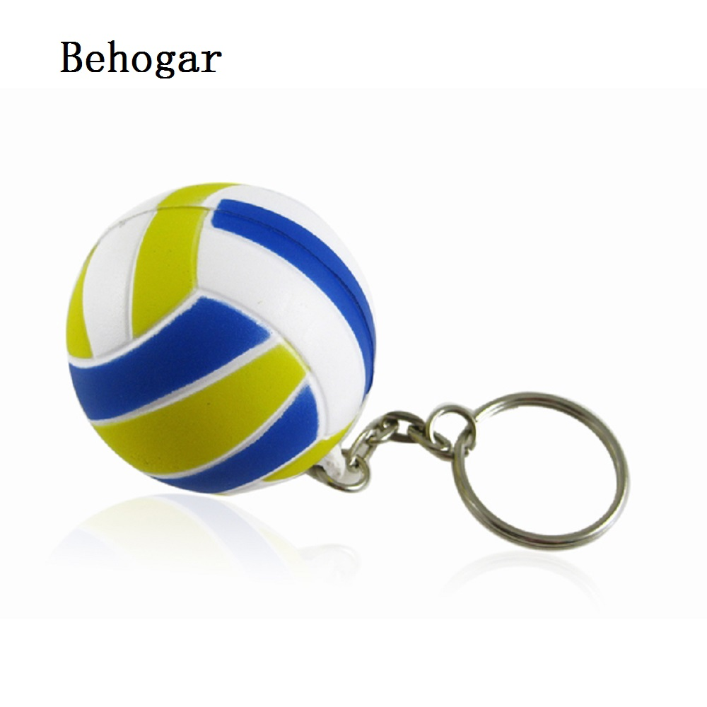 Behogar Cat Toy Volleyball Shaped Keychain Chaveiro Key Chain Ring Keyfob Holder sleutelhanger llaveros mujer france laduree