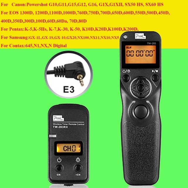 Pixel TW283 TW-283 E3 Wireless Timer Remote Control for Canon 700D 600D 100D 550D 1200D 1100D 750D 650D 60D 70D Shutter Release