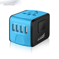 SAUNORCH Travel Adapter International Universal Power Plug Adapter 3 4A 4 USB Worldwide Wall Charger For