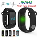 Jw018 pulseiras inteligente toque freqüência cardíaca pulseira passometer bluetooth rastreador esportes fitness para iphone andriod telefone pulseira