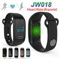 Jw018 pulseras inteligentes pulsera touch pasómetro bluetooth rastreador de fitness deportes de ritmo cardíaco para el iphone andriod teléfono pulsera