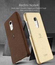 Оригинальный lenuo музыка II элегантный податливым жесткая PU Мягкий чехол для Xiaomi Redmi Note 4 Телефон чехол для Xiaomi Redmi Примечание 4 Чехол