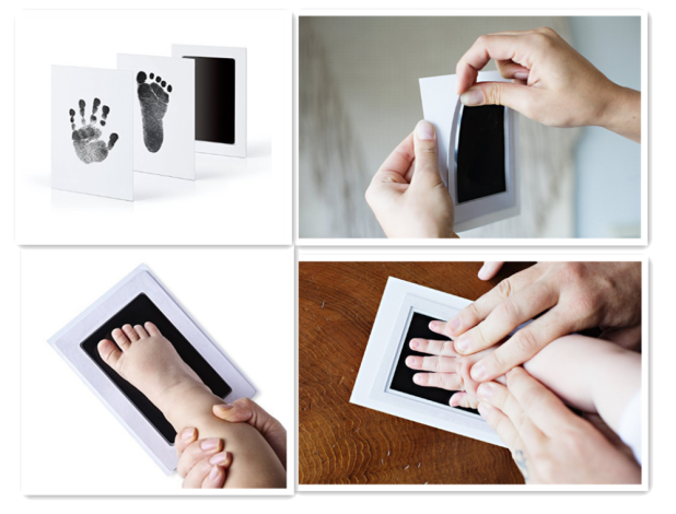2019 Smart Inkless Touch Newborn Baby Handprint Footprint Oil Pad Painting Ink Pad Photo Anti-virus Infection Wonderful Keepsake