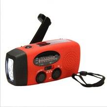 цена на Portable Solar Radio Support AM FM WB Signal LED Flashlight Hand Power Generation Emergency Mobile Phone Charger