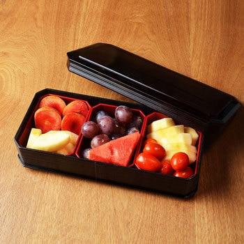 Plastic fruit bowl three piece imitation color fruit bowl retro simple fruit salad bowl