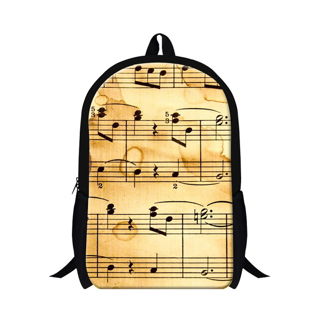 Children School Bags Sheet Music 3D Print Kids Schoolbag For Teenagers Boys Girls Womens Shoulder Backpack Mochila Infantil