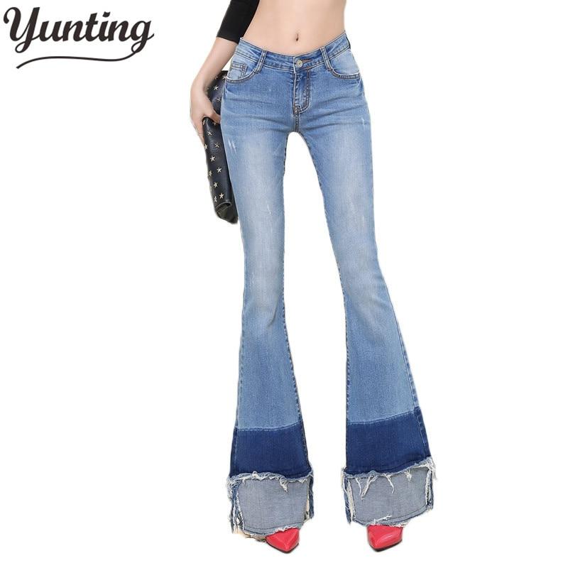 2018 New Fashion Flare Pants Jeans Women Ladies