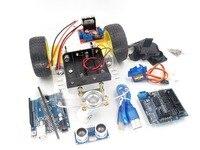 Nieuwe Avoidance tracking Motor Smart Robot Car Chassis Kit Speed Encoder Batterij Box 2WD Ultrasone module kit