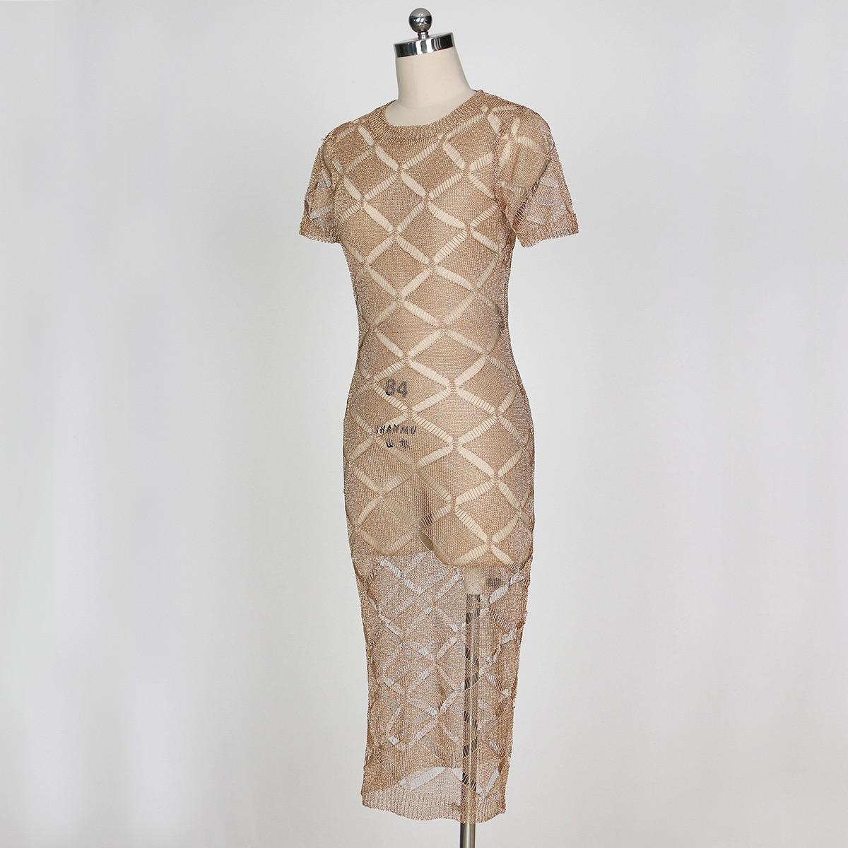 HTB14S4HSpXXXXb0XFXXq6xXFXXXu - 2018 Latest Summer Sexy Dress Rose Gold Knitted Nightclub Party Dresses Women Short Sleeve Fashion Casual Dress