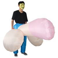 Sexy Inflatable WILLY Penis Costume Costumes Funny Dick Inflatable Strange Party Adult Halloween Costume for Men Women Jumpsuit