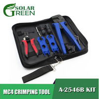 2.5 4 6.0mm2 solar cable Crimp tools A 2546B MC4 Crimping tool kits for MC4 connector DIY solar power system connect plier