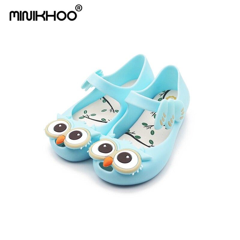 Mini Melissa 2018 New Owl Jelly Fish Head Sandals Girls