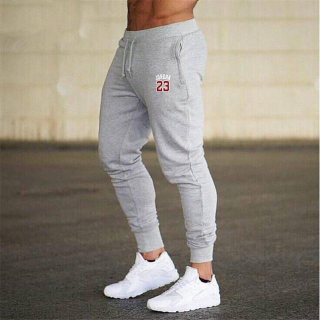 bf60ea72d367 summer Fashion Thin section Pants Men Jogger Casual Trouser Bodybuilding  Fitness Pants Leisure Cultivate JORDAN 23