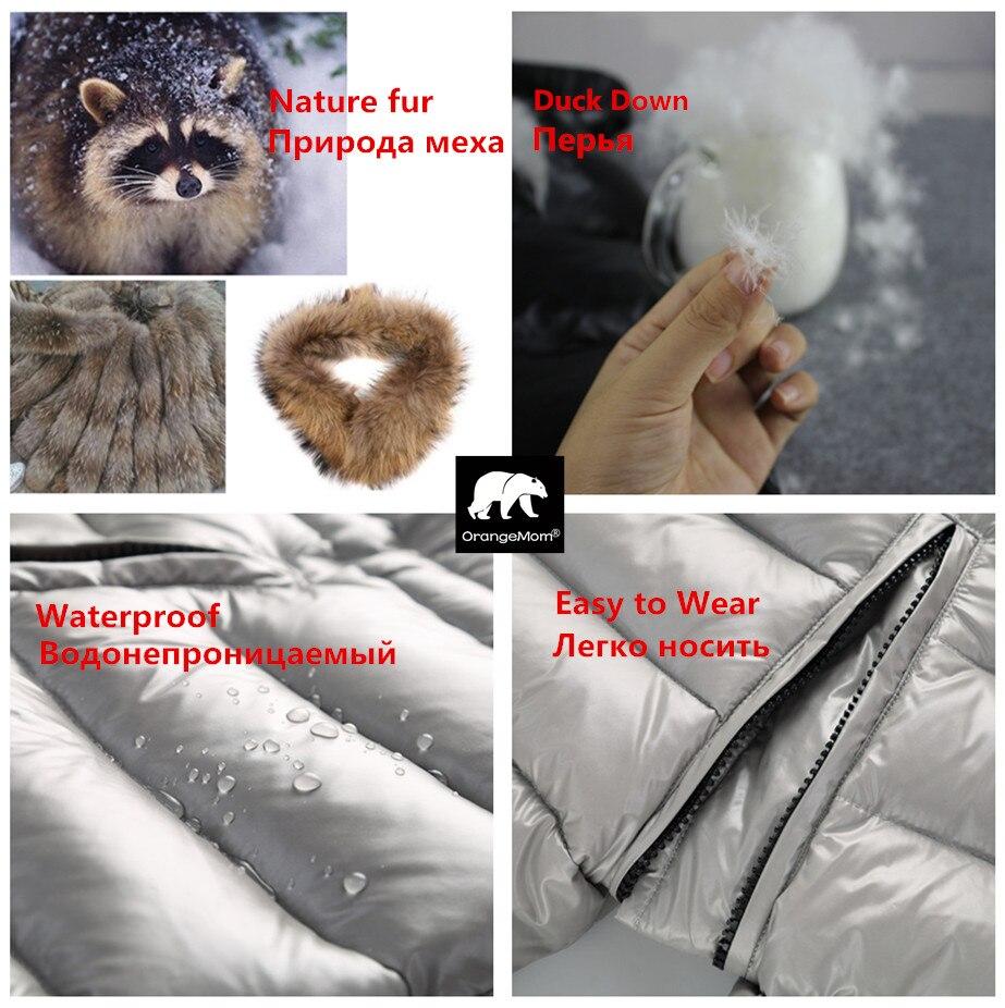 Degré russe hiver vêtements pour enfants doudoune garçons manteaux pour vêtements de dessus, épaissir imperméable snowsuit filles vêtements - 2
