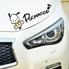 Etie Auto Sticker Accessoires Cartoon Pochacco Hond Licht Wenkbrauw Reflecterende Decal Decoratie voor Volvo Xc90 S60 S80 S40 V50 Xc70(China)