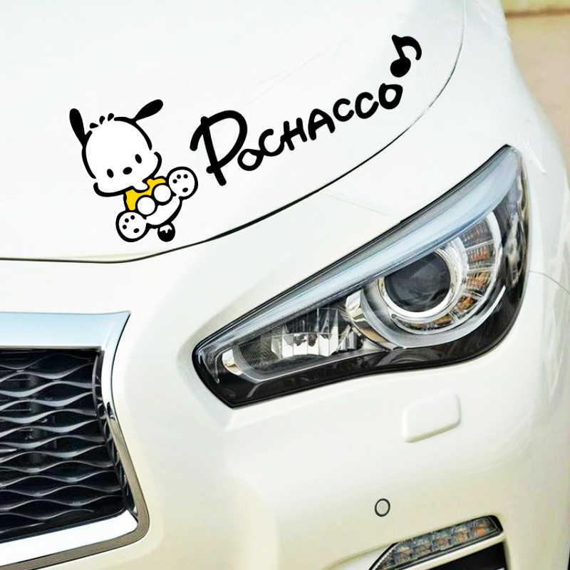 Etie etiqueta engomada del coche accesorios de dibujos animados Pochacco perro luz ceja reflectante etiqueta Decoración Para Volvo Xc90 S60 S80 S40 V50 Xc70