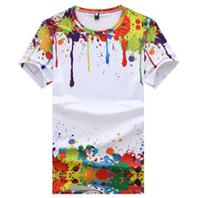 hot deal buy young blood summer t-shirts mens o-neck graffiti t shirts hip hop short soft tops colorful breathable t-shirts