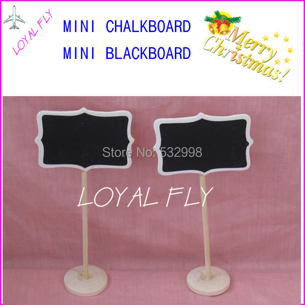 40PCS/LOT Mini Wooden Rectangle Chalkboards Blackboard on stick Stand-Table Numbers -Wedding-Candy Signs