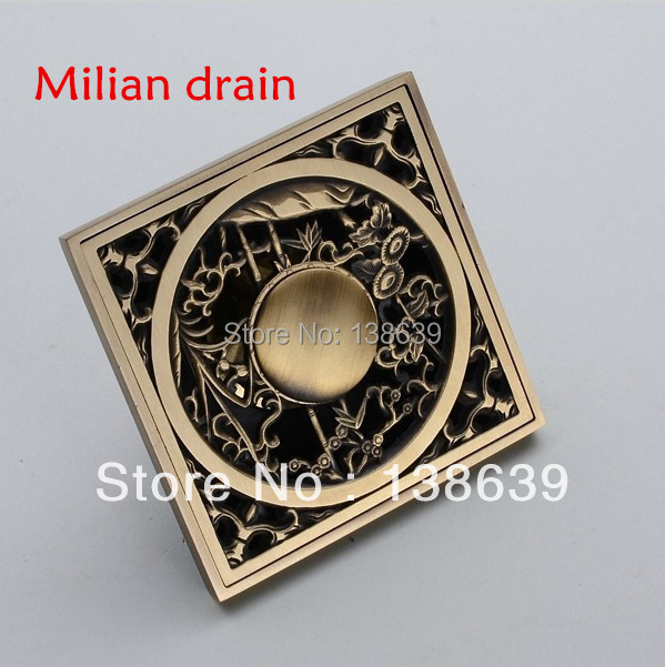 Free shipping Antique Brass Carved Flower Art Bathroom Accessory Floor Drain Waste Grate100mm*100mm,D3 dc12v 10a rf remote control switch system 1ch 1 channel relay 3 x wireless receiver and 1x transmitter sku 5378