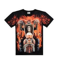 New Fashiont Men t-shirt Short-sleeved Boy Creative Cotton t-shirts Skull knight 3D Printed male Tees Free shipping