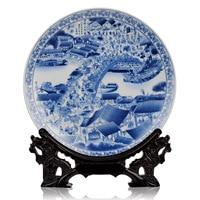 Jingdezhen ceramics porcelain painting decoration plate modern fashion crafts furniture decoration