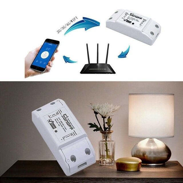 Sonoff スマート無線 Lan スイッチ Diy のスマートワイヤレスリモートスイッチ Domotica 無線 Lan スイッチスマートホームコントローラ Alexa で動作