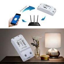 Sonoff interruptor inteligente Wifi para el hogar, interruptor remoto inalámbrico, domótica, controlador inteligente para el hogar, funciona con Alexa