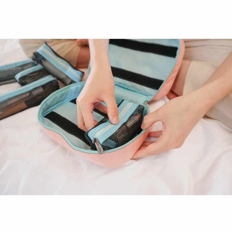 化粧品袋化粧バッグトラベルオーガナイザーポータブル美容ポーチ機能バッグトイレタリー主催者洗浄バッグケース