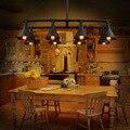 Vintage Wrought Industrial Pipe Pendant Light 8 Heads Loft Edison Hanging Lamp For For Restaurant Restaurant Bar Cafe Room