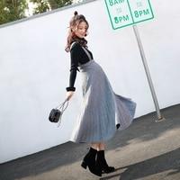 GRRCOSY Korean Skirts Womens Autumn Maternity Elastic Waist Strap Skirt Pregnancy Long Skirts Clothes For Pregnant Women