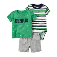 Drop Shipping 2016 Bebes Baby Girl Boy Clothes Newborn Baby Kids Summer Short Clothing Boys Girls