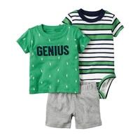 Drop Shipping 2016 Bebes Baby Girl Boy Clothes Newborn Baby Kids Summer Short Clothing Boys Girls