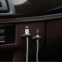 Universal 8 Pieces/Pack Mini Adhesive Car Charger Line Stable Sort Clasp Clamp Headphone USB Cable Clip Car Interior Accessories