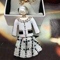 K103 perlas porte clef Botella llavero estilo CC famosa marca de lujo llavero llaveros para las mujeres jewlery bolsas coches