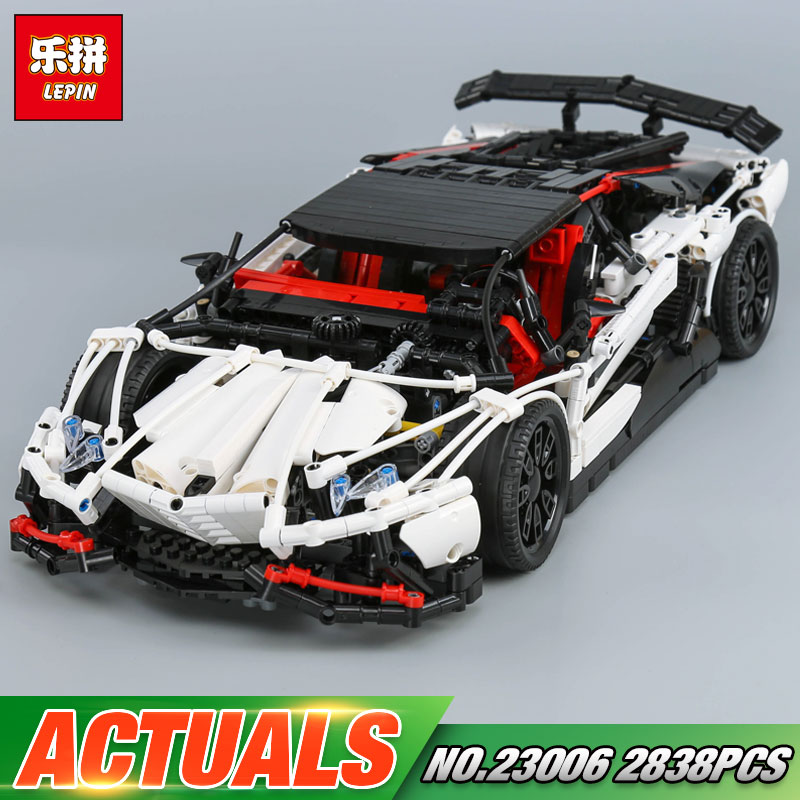 Lepin 23006 Genuine MOC Technic Series The Super Racing Car Set MOC-3918 Building Blocks Bricks Educational Toys Boy Gifts Model lepin 21010 technic super racing car series the red truck set children educational toys building blocks bricks compatible 75913
