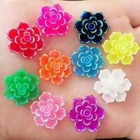 NEW 10PCS 20mm AB Resin 3D Flower Stone Flatback Wedding Diy Design Button  Craft K33 98545c45d90a