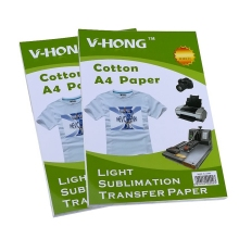 V-HONG A4 size cotton T-shirt sublimation prevent crack Dark color heat transfer paper