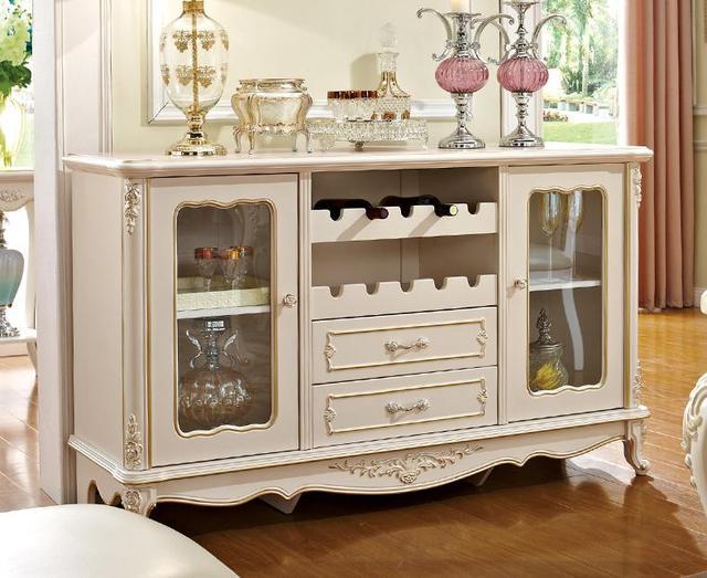Tablas de jardín de estilo europeo, gabinetes de comedor de madera ...
