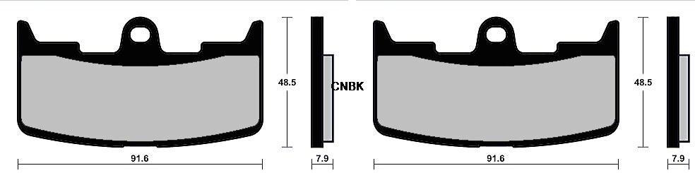 Rear Brake Pads For Buell XB12SS Lightning Long 1200 2006 2007 2008