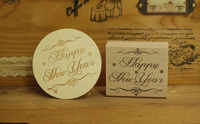 DIY Happy New Year Rubber Wooden Stamps For Carimbo Stempel Postcard Or Bookmark Scrapbooking Stamp 6