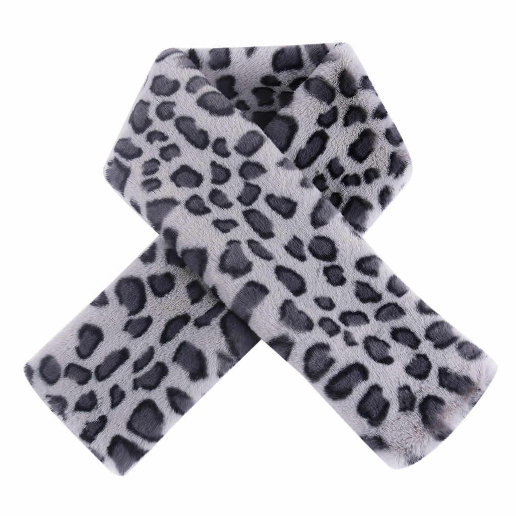 2019 Nuova Sciarpa di Modo Delle Donne di Lusso Caldo di Inverno Della Stampa Del Leopardo Del Collare Avvolge Cape Accessori Invernali Scialle Foulard Femme