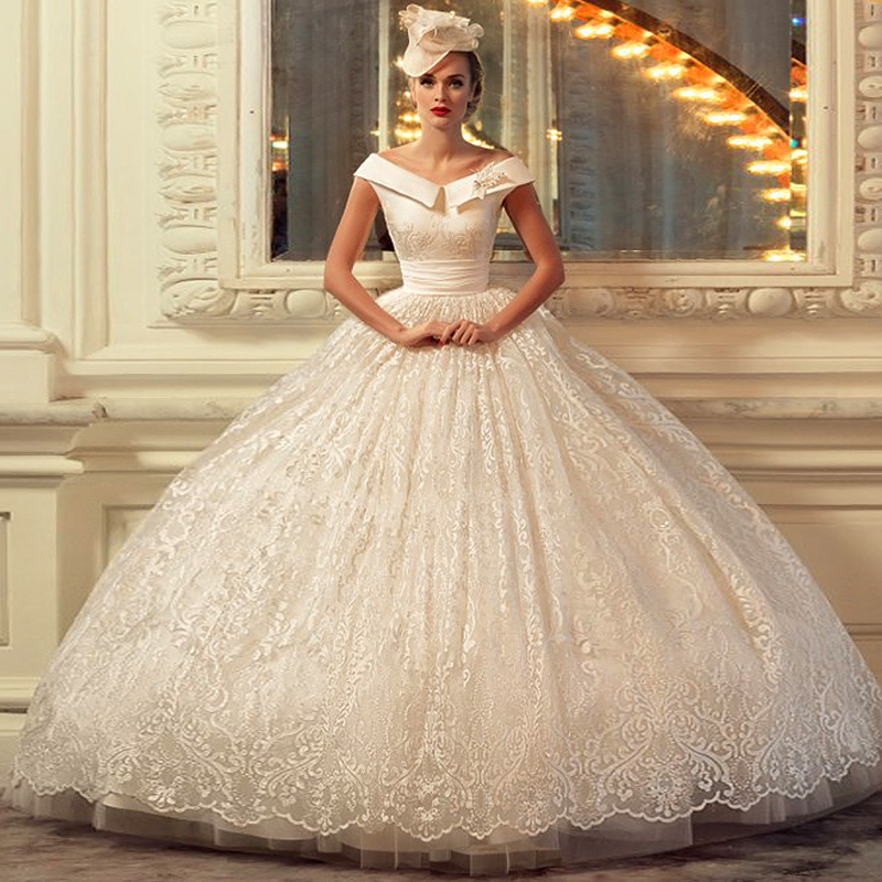 Ball Gown Lace Gorgoues Elegant Wedding Dresses off the shoulder ...