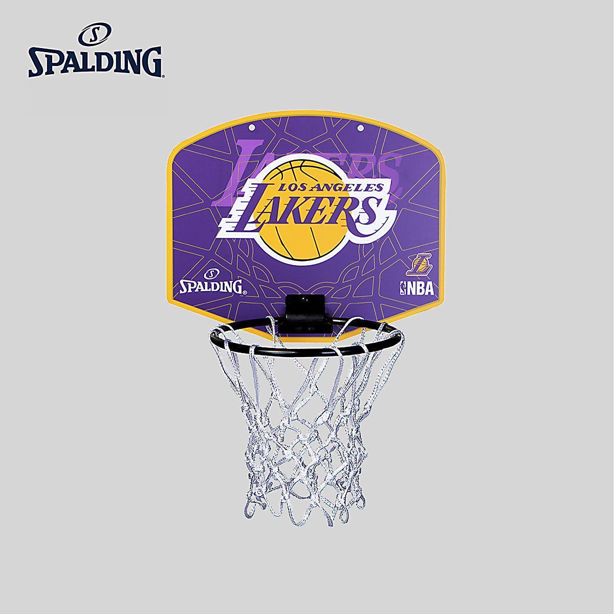 Spalding Nba Lakers emblème Mini panneau mural attaché petite balle de basket-Ball 77-628Y