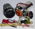 Modificado Motocicleta suíte turbocharger elétrico Turbo 500 Para O Motor da motocicleta Da Bicicleta do metal tem cogumelo do filtro de ar