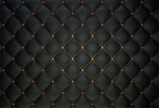 Laeacco Black Leather Headboard Bed Diamond Pattern ... Black Diamond Pattern Background