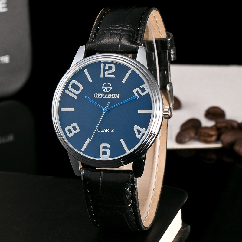 Luxe Herenhorloge Echt leer Fashion Casual Quartz Polshorloge - Herenhorloges - Foto 1