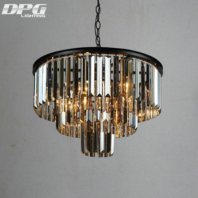 LED Big Crystal Pendant Lamp Creative Restaurant Cord Pendant Lighting Fixtures Contemporary Style 110-240V AC